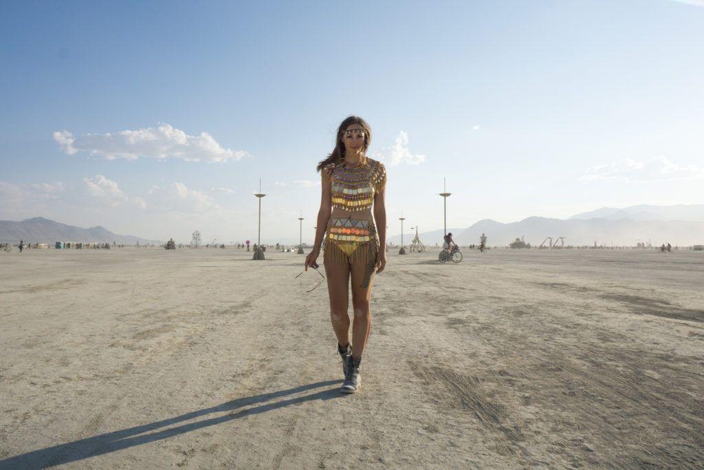 Feeling like a warrior at Burning Man