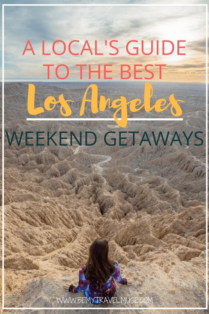 Which are the best Los Angeles weekend getaways? Including mountains, deserts, and beaches, these are all awesome things to do around Greater Los Angeles. #LosAngeles