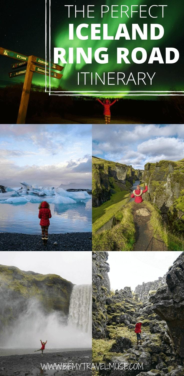 Planning a road trip along the beautiful Ring Road in Iceland? Here is a complete itinerary with the best stops, best watefalls, and tips on how to see and photograph the northern lights. Download the free PDF file to help you complete your Iceland bucket list!