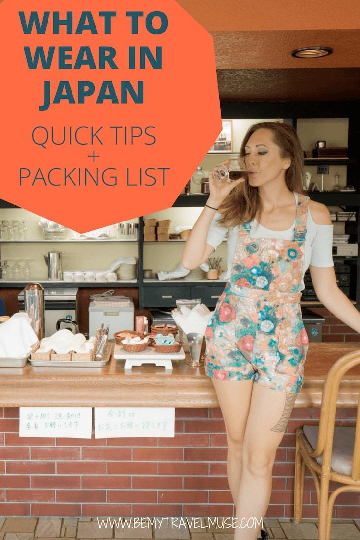 Here are some quick tips and packing lists for all seasons in Japan - spring, summer, fall, winter, I got you covered! This article will help you plan your wardrobe for your next Japan trip - check it out! #Japan #PackingTips