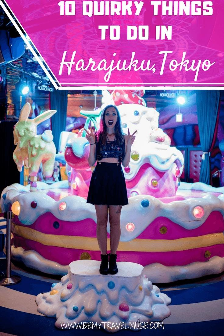 Wondering what to do in Harajuku, the kawaii capital of Tokyo, Japan? Here are 10 quirky things that will help you plan your trip to Harajuku! #Harajuku #Tokyo #Japan