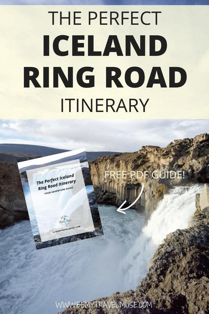 Get this FREE PDF guide to plan your 7 days Iceland Ring Road road trip now. Tips on vehicle selection, bucket list worthy stops along the way, camping spots, the most incredible waterfalls, where to see the northern lights included. #Iceland #RingRoad #RoadTrip