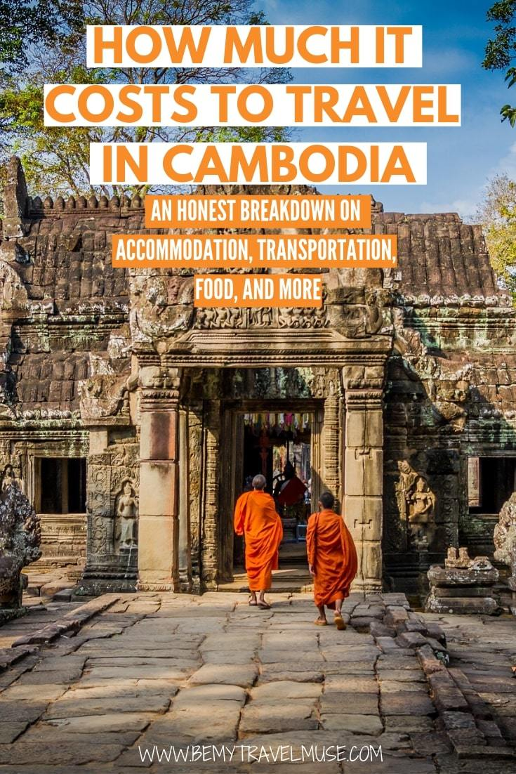How much it really costs to travel in Cambodia? I was able to backpack in Cambodia for $30/day. Here's a realistic breakdown on the accommodation, transportation, food and other expenses in the country to help you plan your trip to Cambodia.