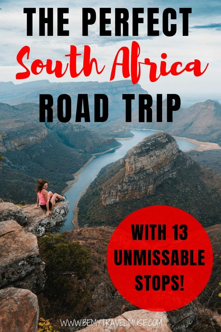Click to read an epic South Africa road trip itinerary with 13 unmissable stops that will help you make the most out of your time in South Africa! Accommodation guides and other essential tips included. #SouthAfrica