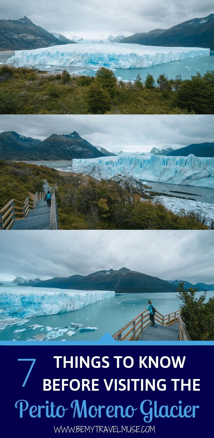 Important tips you need to know about the Perito Moreno glacier in Los Glaciares National Park, Argentina, to help you plan an amazing trip on different budget and timeline. It is a bucket list item you NEED to check out! #peritomorenoglacier #glaciertrekking