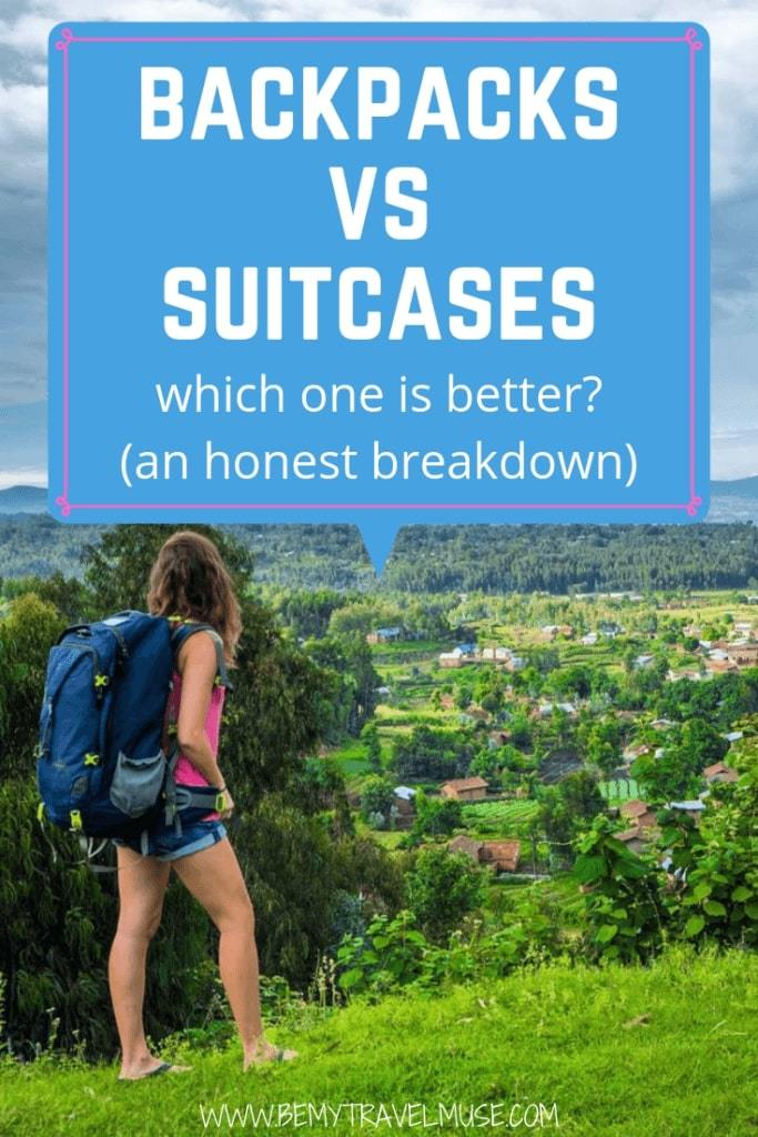 Wondering if you should travel with a suitcase or a backpack? This article breaks down the pros and cons of carrying a suitcase and a backpack, and helps you determine what would work best for you. Click to read now!