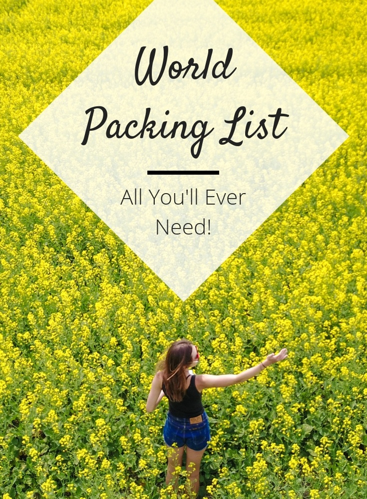 world packing list