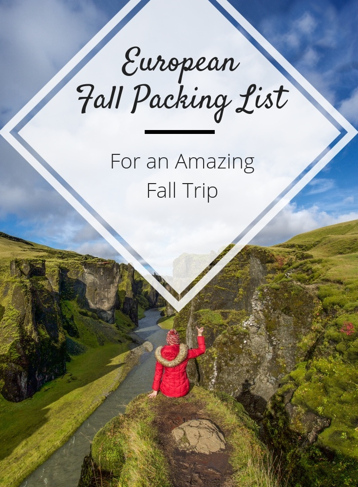 europe fall packing list
