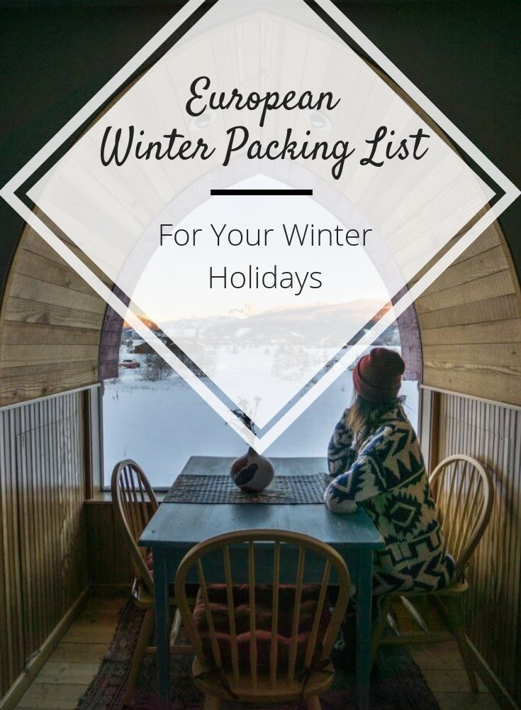 europe winter packing list