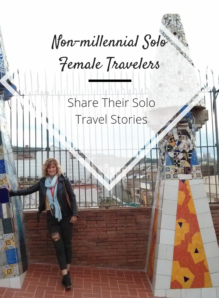 solo female traveler over 40