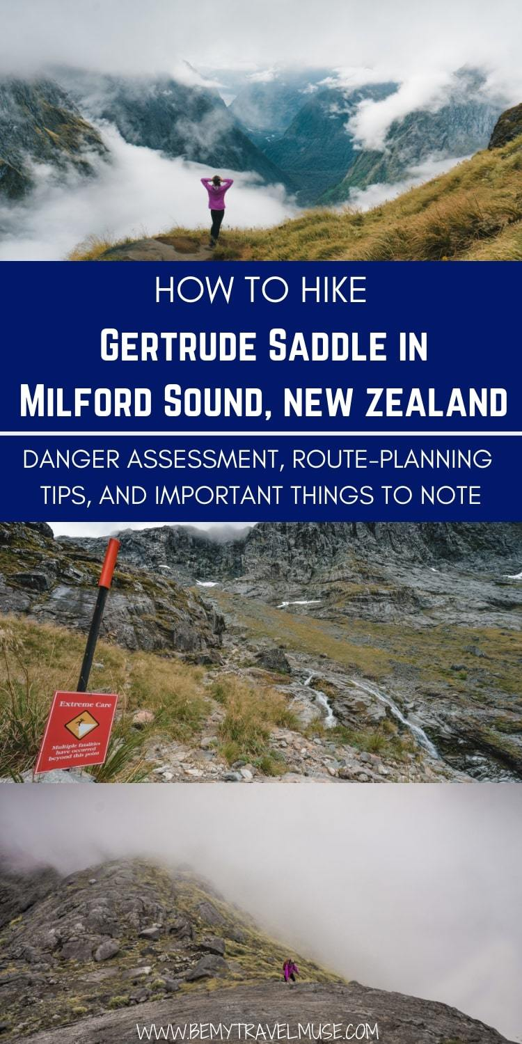 Gertrudes Saddle is one of the most under the radar hikes in Milford Sound, New Zealand. It's the perfect adventure but there are a few important things to note. Click to read now! #NewZealandHikes #NewZealandTravelTips