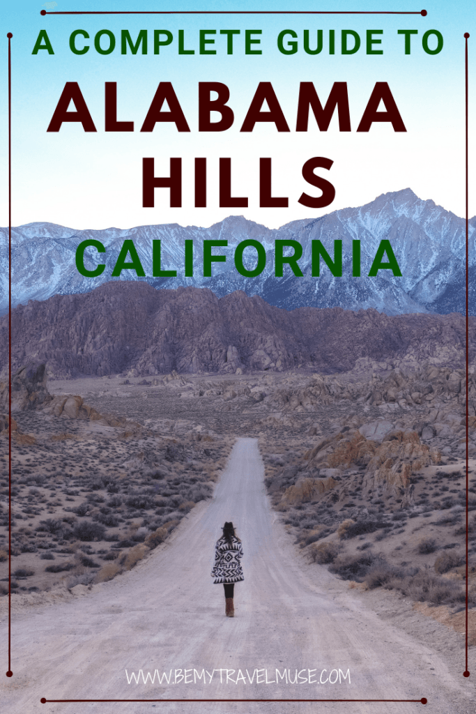 A complete guide to Alabama Hills, California | Photography tips, hiking guides, specific guides to the arches, best times to go, plus how to get an awesome milky way photo!