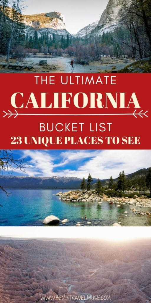 California Dreaming? Here are 23 unique places you must visit when in California. This list includes the best things to do in each area, insider tips from a local, and photos to inspire you to travel to the Golden State! #california #CaliforniaBucketList