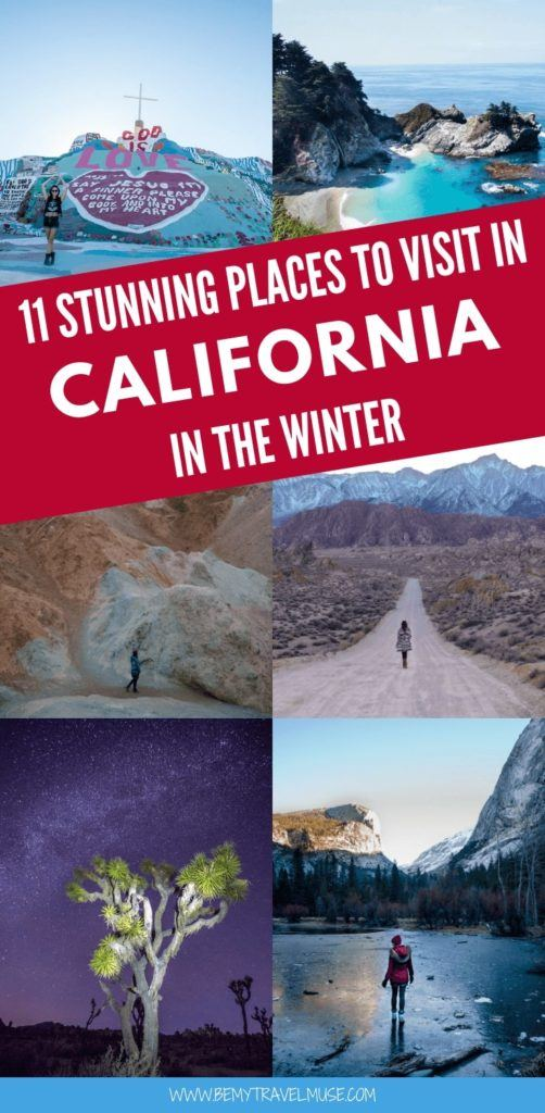 Visiting California in the winter? Here are 11 stunning places that are perfect for your winter holiday in California, especially if you are an outdoor lover! #California #WinterTravelTips