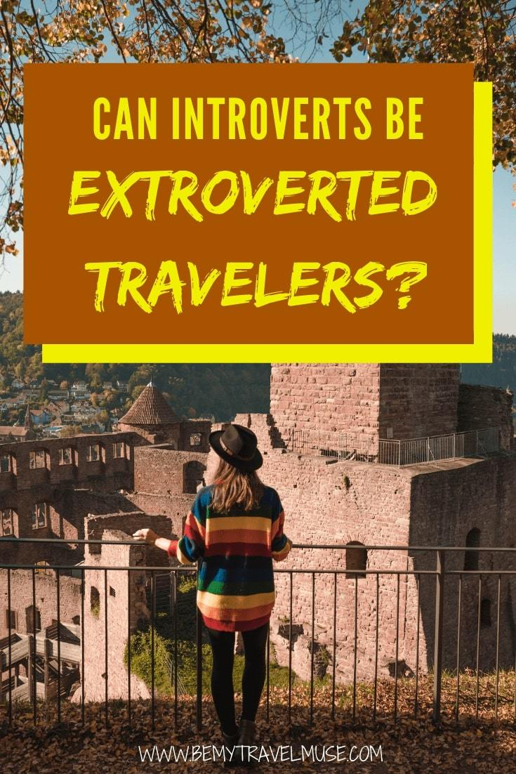 Can introverts be extroverted travelers? If you feel introverted at home, yet more open to adventures and meeting others when you travel, you are not alone. Click to read how things work! #Introvert #SoloFemaleTravel