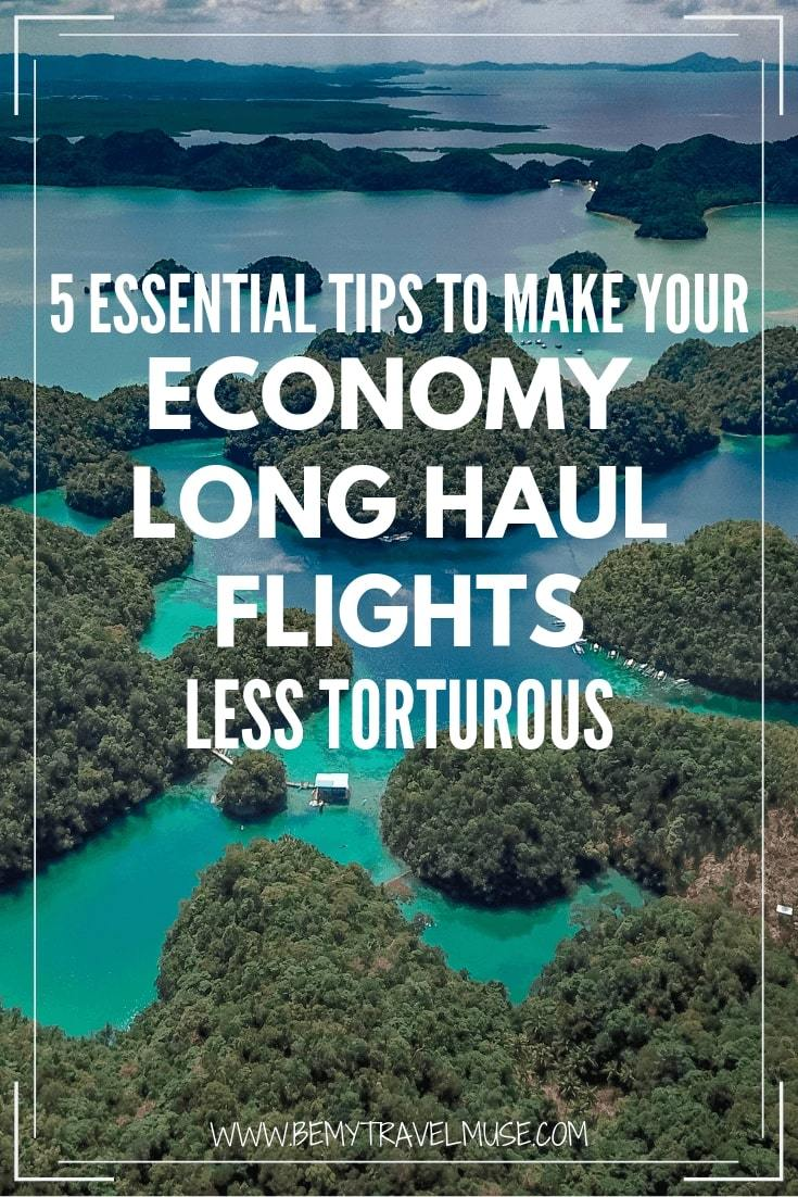 Click to read my best tips on surviving an economy long haul flights!