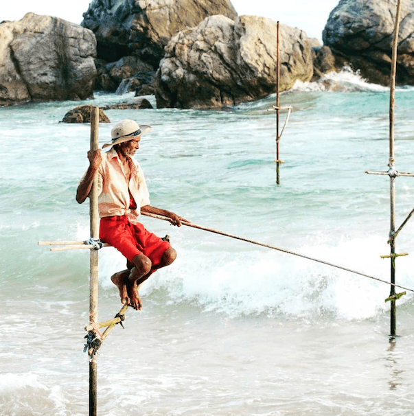 Ahangama fishing village