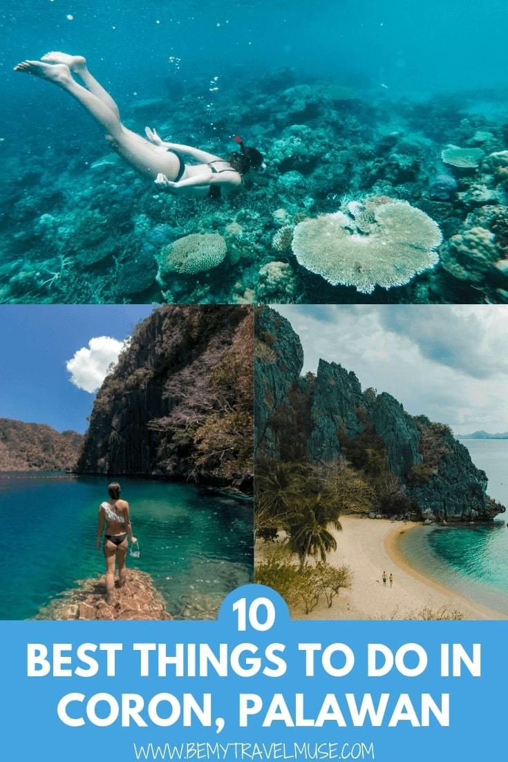 Other than island hopping, snorkeling, and diving in Coron, Palawan, the Philippines, there are a few other interesting things that you must do - click to check out what they are! #Coron #Palawan