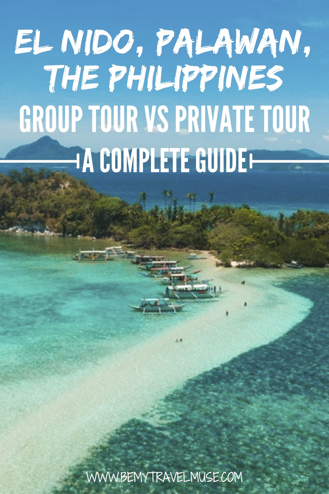 Should you go on a group tour or a private tour when island hopping in El Nido, Palawan, The Philippines? Here is an honest breakdown, complete guide and review of both options to help you choose the perfect way to see the islands of El Nido!