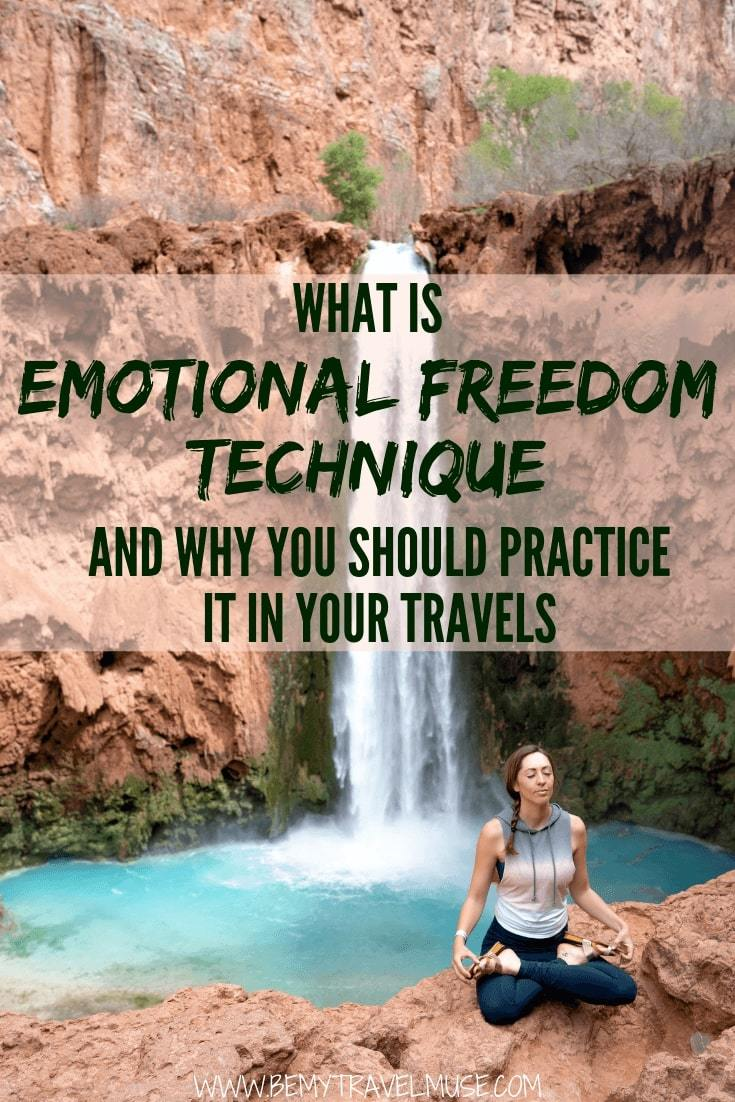 Want to give Emotional Freedom Technique (EFT), a self-administrated therapy a go? It has been helpful in keeping me calm, present and at peace not only in my travels but also in my daily life. Click for more details and give it a try yourself! #EmotionalFreedomTechnique