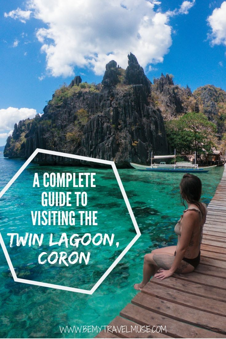Here is everything you need to know about visiting the beautiful but incredibly popular Twin Lagoon in Coron, Palawan, the Philippines. Learn how to get there, when is the best time to go, and other insider tips to help you plan the best trip. #Coron #Philippines