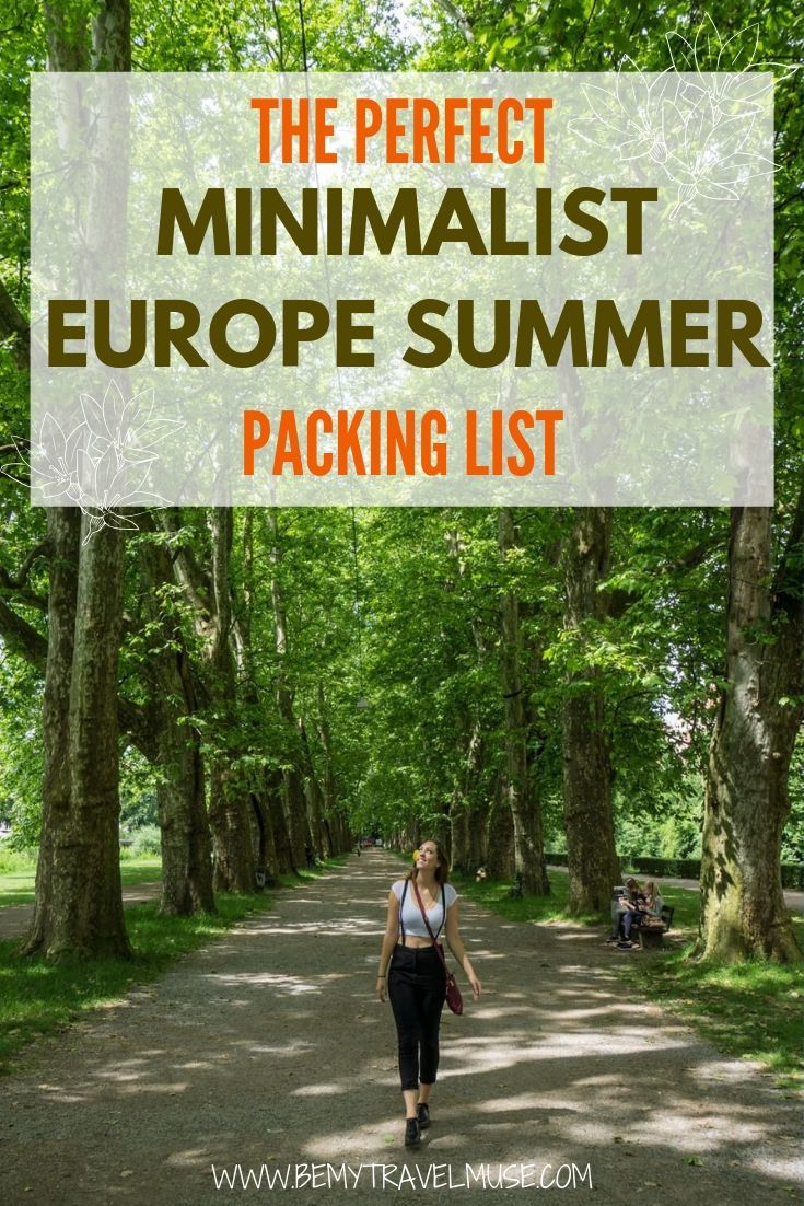 How to pack light yet stylishly for your Europe summer trip? Here's a complete packing list perfect for women who want to travel light but also want to have great outfit options for their summer holiday. Clothing, toiletries and the best bag options included. Click to read now! #EuropePackingList #WomenPackingList