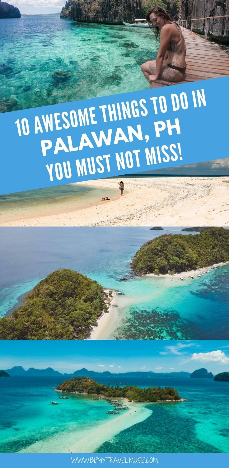 10 best things to do in Palawan, the Philippines, as recommended by travel bloggers. Aside from the popular El Nido and Coron, there are also some off the beaten path spots that are worth checking out. If you are planning a trip to Palawan soon, click to read the list now! #Palawan