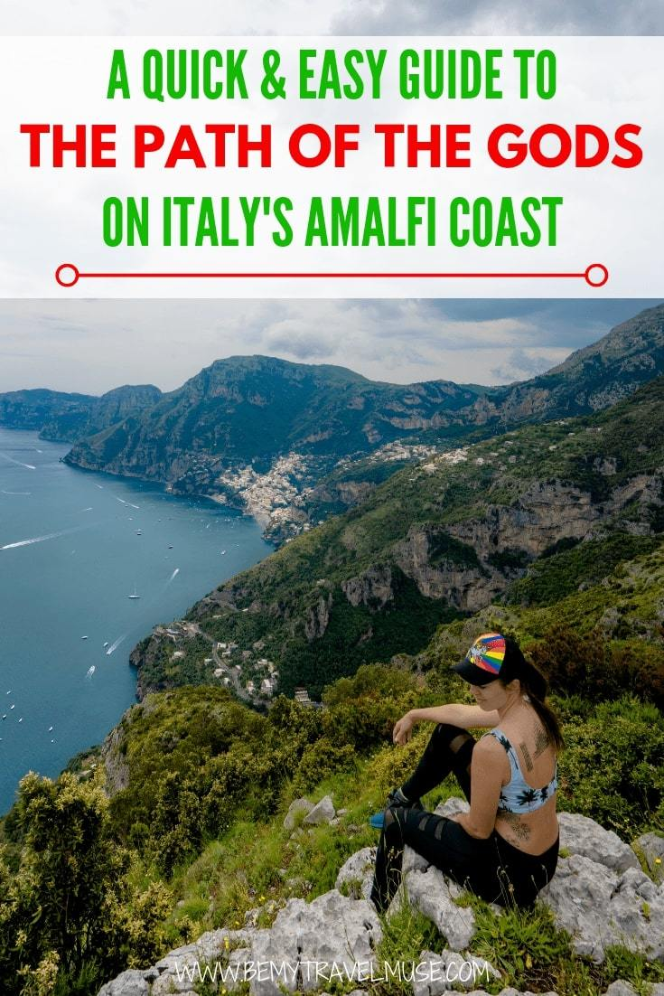 Want to walk or hike the Path of the Gods on Italy's Amalfi Coast? This guide will get you well prepared from start to finish. It's perfect for squeezing in an easy workout during your holiday in Italy. #PathoftheGods #AmalfiCoast #Italy