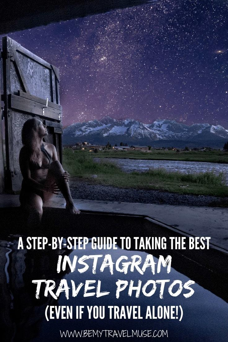Here's a step by step guide to taking the best Instagram travel photos, even if you are traveling alone! Learn how I turned my Instagram into a professional photography platform, with more than 100k following and various collaborations with tourism boards and companies. #Instagram