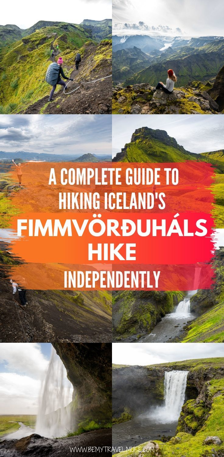 A complete guide to hiking Iceland's Fimmvörðuháls Hike independently, from where to begin, what to bring, what to expect, and a complete itinerary to help you plan your hike in one of the most popular hikes in Iceland.