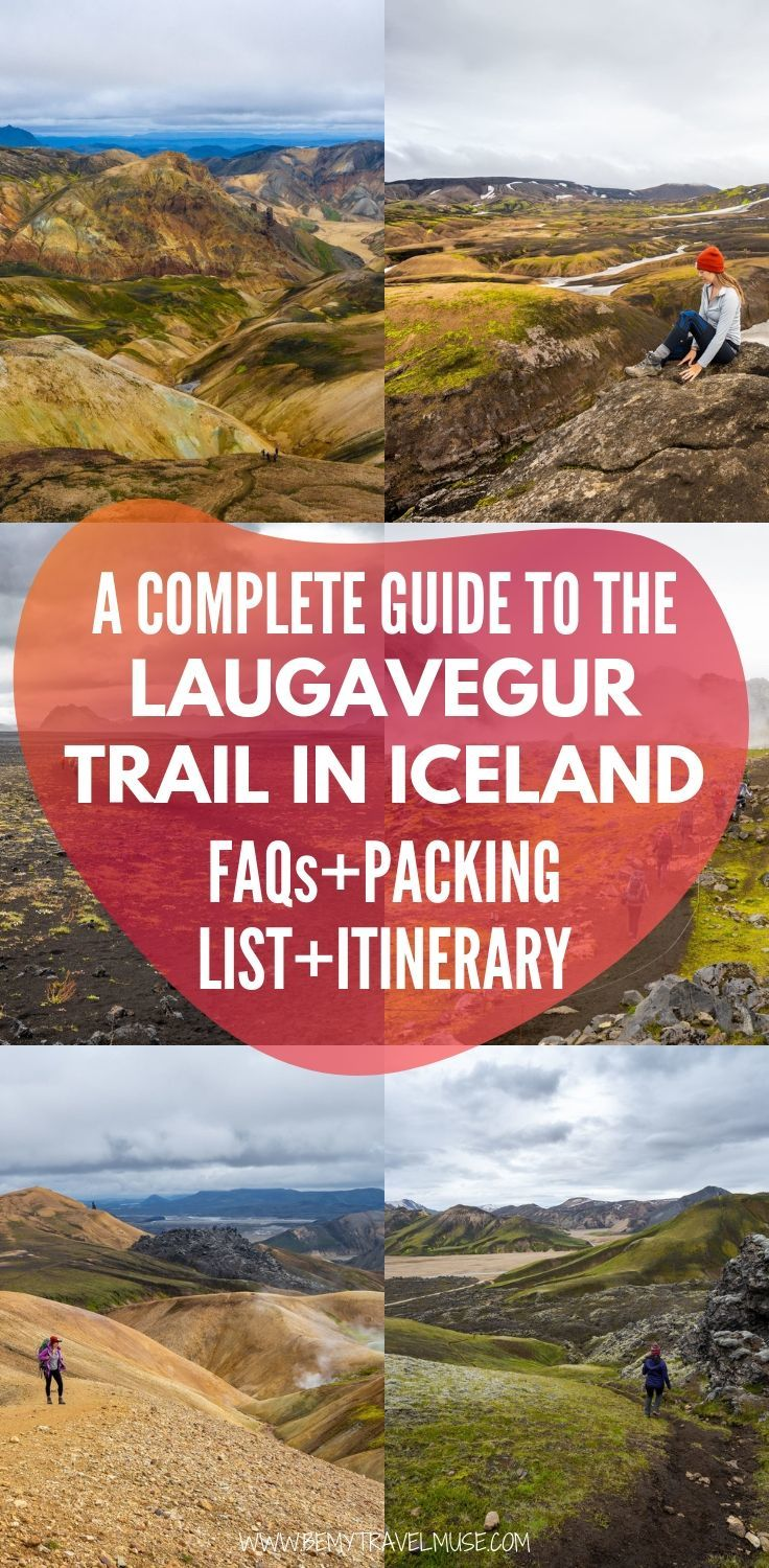 A complete guide to hiking the Laugavegur Trail independently, with a packing list, itinerary and essential information to help you plan your hike . #Laugavegur