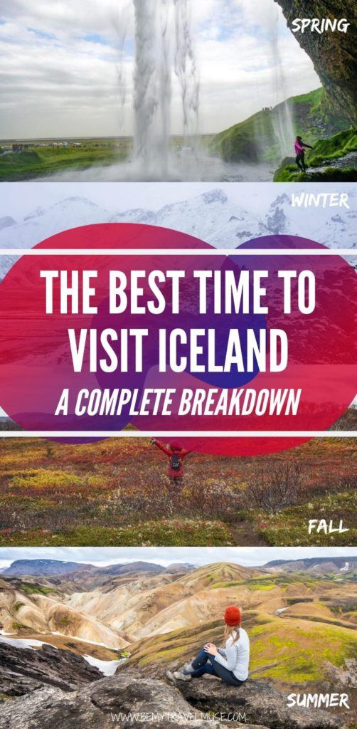 When should you go to Iceland - winter, spring, summer or the fall? Here's a complete breakdown of the pros and cons of visiting Iceland during each season to help you decide when is the best time to visit Iceland and plan your trip accordingly. #Iceland