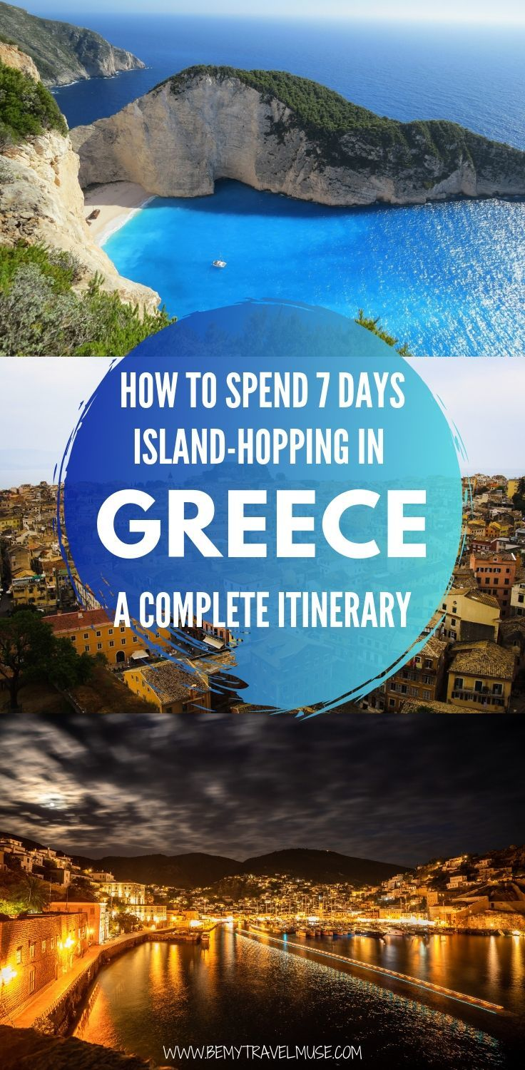 Greece is the perfect combination of affordable, beautiful, and delicious. When it comes to sailing around the Mediterranean, Greece is what dreams are made of! Here's a complete guide and itinerary to help you plan the most amazing island hopping excursion in Greece. Click to read now #Greece