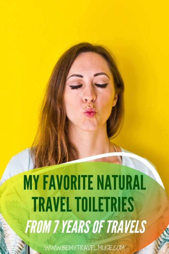 Here are the best travel toiletries that are high quality, eco-friendly, and great for your skin. I have used some of them for over 7 years now, so if you are looking for the best, natural travel toiletries for your upcoming trips, check this list out #TravelToiletries