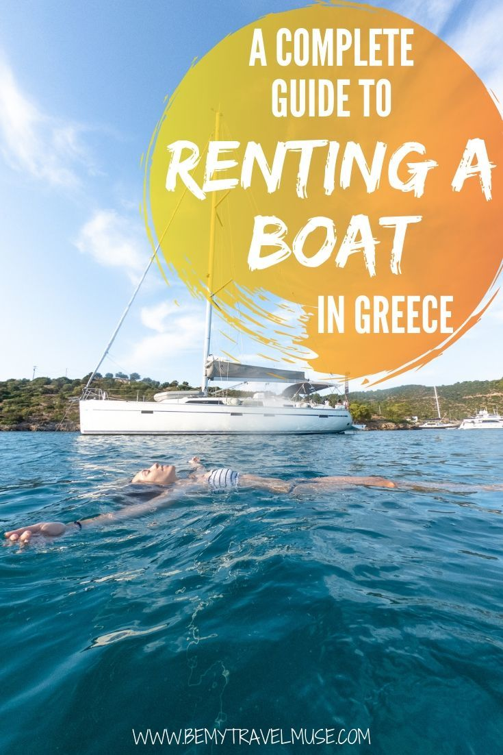Dreaming of renting a boat and island hop around some of the spots around Greece? Here's a complete guide to help you out. Renting a boat in Greece turns out to be affordable and pretty easy to organize. In this guide you will find different options including boat charters, the yacht week, and med sailors. #Greece