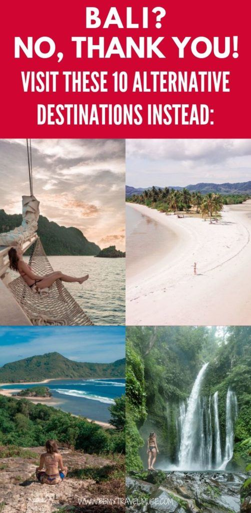 "Bali is one of the popular destinations that suffer severely from overtourism. If you are planning an island trip to Indonesia, and want to know what are your other options, here are 10 great alternatives that promise an amazing island experience, minus the crowds! Get off the beaten path and explore ""real"" Indonesia and beyond #Indonesia"