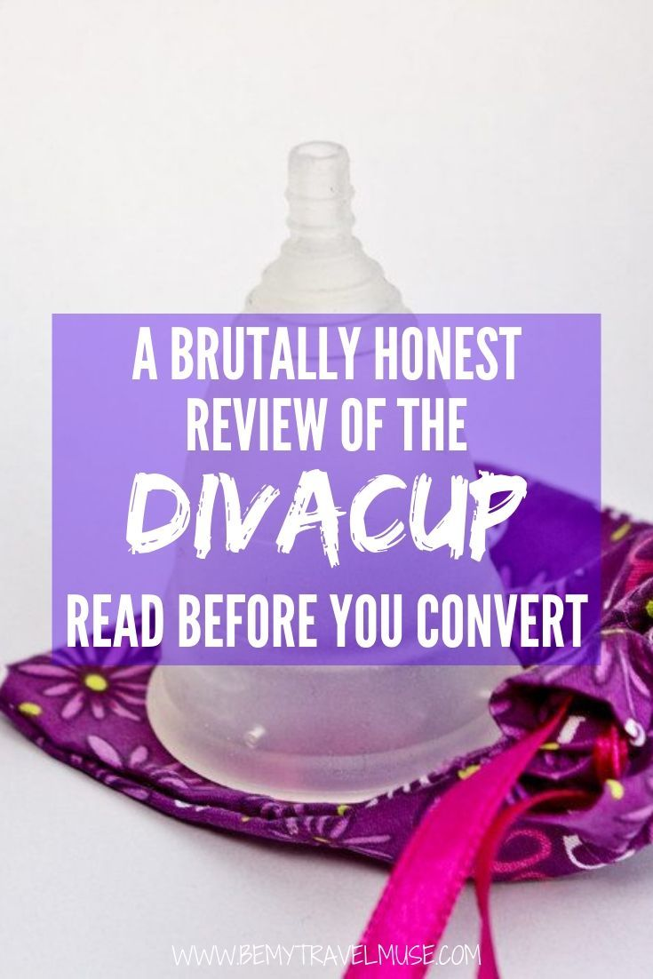 Is menstrual cup worth it? I have been using the Diva cup for years now, and here's my (brutally) honest review to help you decide if a menstrual cup is for you, and if it's truly better than using a tampon or pads, especially when you are traveling. #divacup