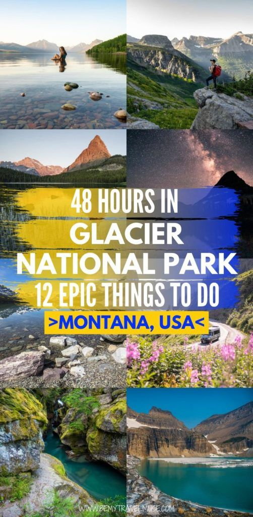 If you only have 48 hours in Glacier National Park in Montana, USA, here are 11 epic things to do that are all absolutely worth the hype, including Lake McDonald, Avalanche Gorge and Lake, Logan Pass, Grinnell Glacier Trail and so much more. #GlacierNationalPark