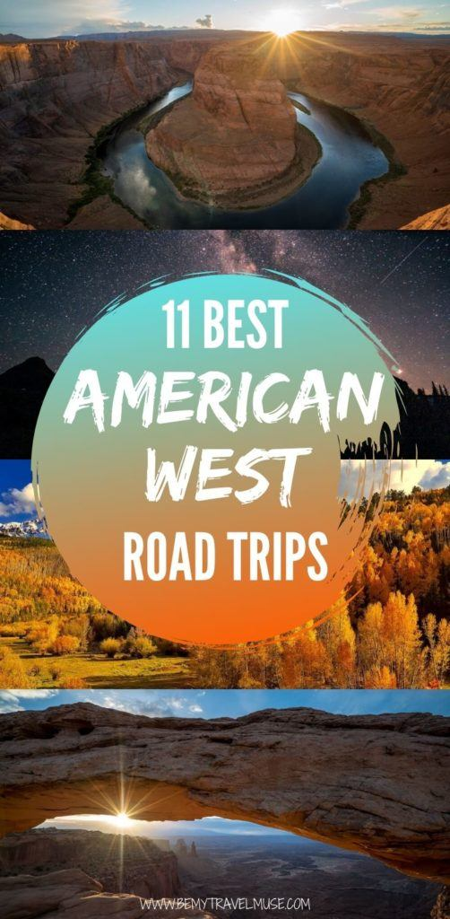 Here are the 11 best American West road trips, with the best stops and complete itineraries to help you plan your journey. Drive through California, Nevada, Utah, Arizona, Idaho, Montana, Wyoming, Oregon, Washington, Colorado, and New Mexico and enjoy all of the beautiful, photography worthy stops!