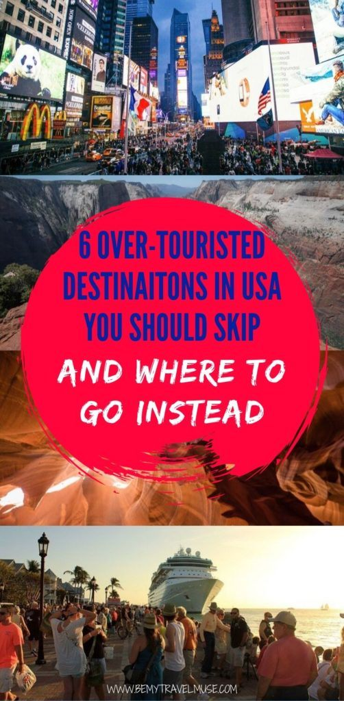 Thanks to overtourism, some popular travel destinations in the USA are currently suffering from crazy crowds & inflated prices. Click to see 6 alternative travel destinations that are equally, if not more amazing that you should visit instead! #USATravelTips