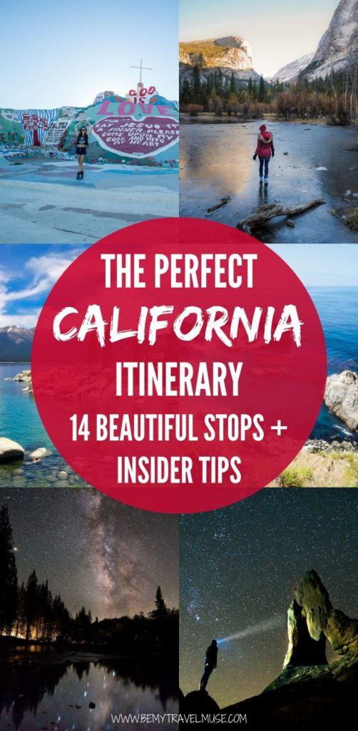 The perfect California itinerary with 14 beautiful stops and insider tips to help you plan an epic trip. Visit Los Angeles, San Diego, Yosemite, San Francisco, Big Sur and more. Get tips on where to go, what to do and where to stay! #California