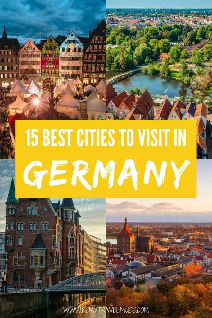 Visiting Germany? Here are 15 of the best cities you can explore! From the cooler than cool streets of Berlin to the beautiful castles in Baden-Württemberg, Germany has so many cities worth visiting, a trip to Germany alone is more than worth it. #Germany