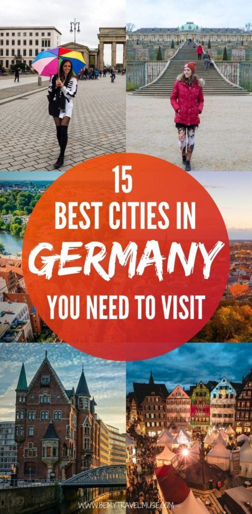 Here are 15 of the best cities in Germany you need to visit, from a girl who has lived in the country for 4+ years! Germany is one of the best European countries to travel in, and this list will help you plan the best trip to the country. Aside from the popular cities like Berlin, Munich and Stuttgart, there are also a few lesser-known places that are full of pleasant surprises. #Germany