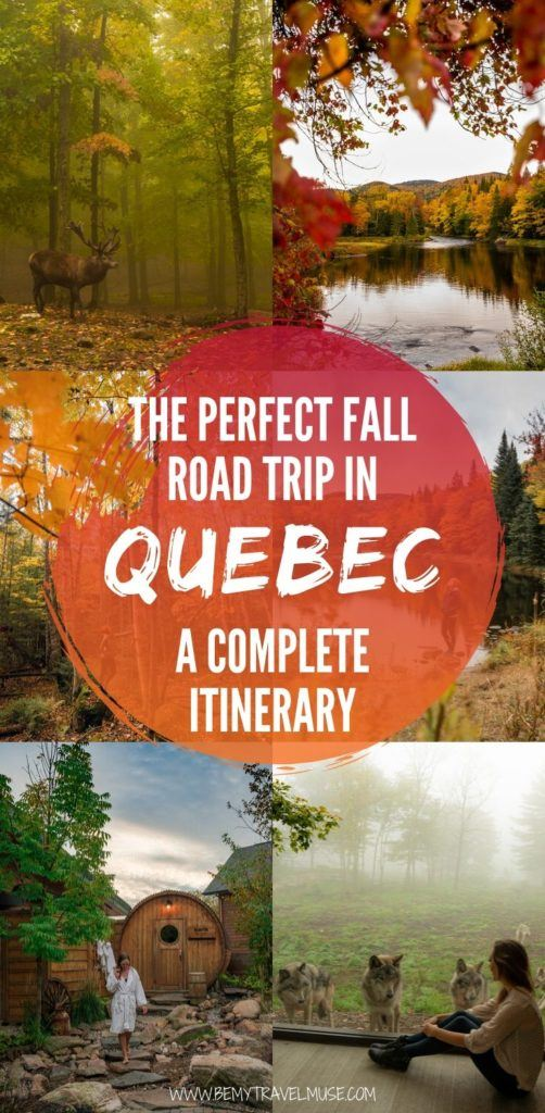 Need help planning the perfect fall road trip in Quebec? Here's a complete itinerary starting from Ottawa, with several beautiful stops along the way including Gatineau, Montebello, Laurentians, and Mont-Tremblant National Park. Get tips on what to do, where to stay and what to eat at each stop. #Quebec #Canada