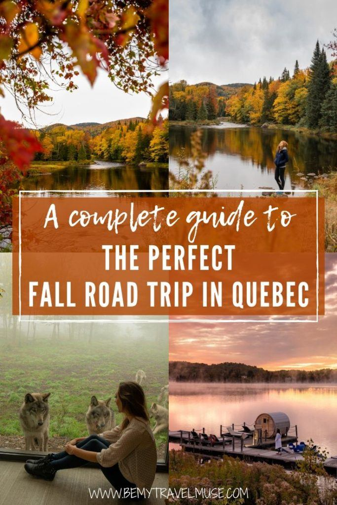 Click to get a complete guide to the perfect fall road trip in Quebec, Canada. This road trip begins at Ottawa and includes several stops like Gatineau, Montebello, Laurentians, and Mont-Tremblant National Park. Tips on where to stay and eat included! #Quebec #Canada