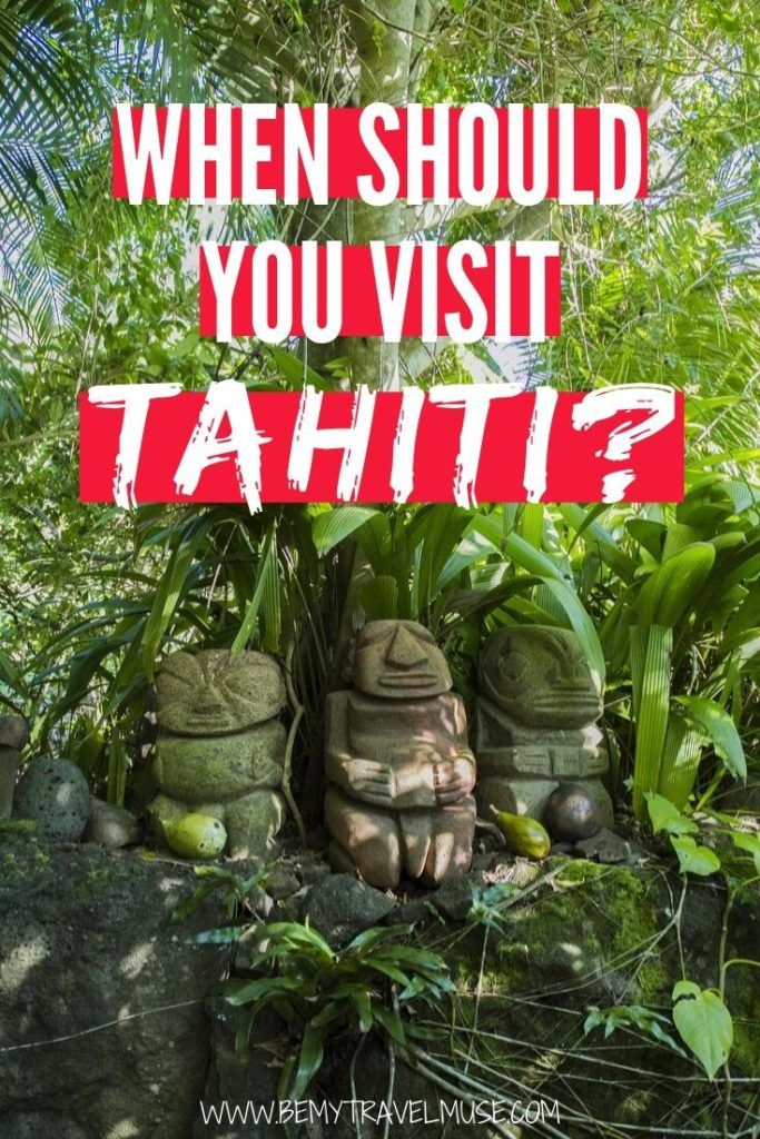 When should you visit Tahiti? While Tahiti doesn't have the typical seasons like most countries, the humidity and rainfall level may affect your travel experience. Click to learn everything you need to know, including when is the best time of the year to visit Tahiti, and tips on costs and crowds! #Tahiti