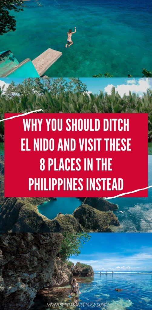 Try these 8 amazing alternatives instead of El Nido the next time you travel to the Philippines. These islands are less crowded but just as amazing and beautiful. If you want to get off the beaten path, this list is perfect for you! #Philippines