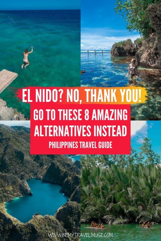 El Nido has long suffered from overtourism, but why pick El Nido when there are so many other great islands in the Philippines to explore? Click to see 8 amazing alternatives across the Philippines, with just as much sunshine, beautiful beaches, crystal clear water to swim in. #Philippines #PhilippinesTravelTips