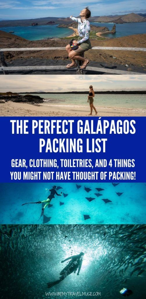 Click to find out what you should pack for your trip to the Galápagos. This perfect Galápagos packing list has all of the gear, clothing, toiletries, and 4 things you might not have thought of packing. #Galápagos