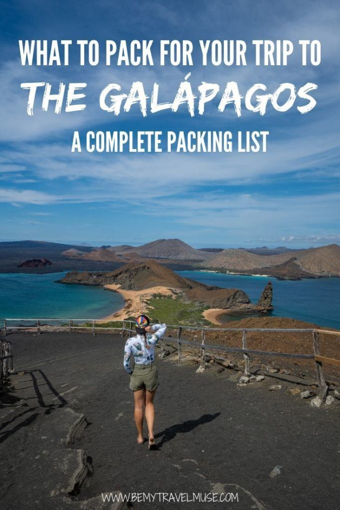 Packing for a trip to the Galápagos and not sure what to bring? Here's a complete packing list with all of the essential items, gear recommendations, clothing guide, and safety items that you may not have thought of bringing. #Galapagos